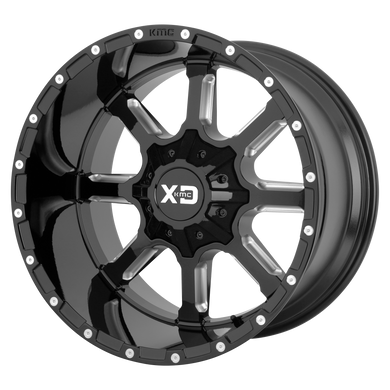 XD SERIES BY KMC WHEELS MAMMOTH GLOSS BLACK MILLED - rons-rims-inc