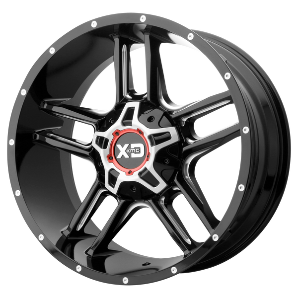XD SERIES BY KMC WHEELS CLAMP GLOSS BLACK MILLED - rons-rims-inc