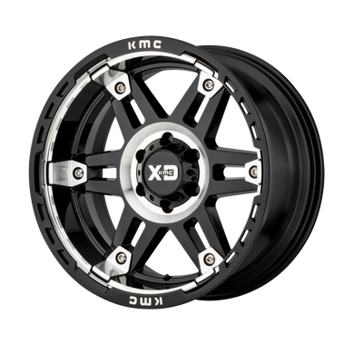 XD SERIES BY KMC WHEELS SPY II GLOSS BLACK MACHINED - rons-rims-inc