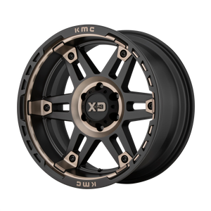 XD SERIES BY KMC WHEELS SPY II SATIN BLACK W/ DARK TINT - rons-rims-inc