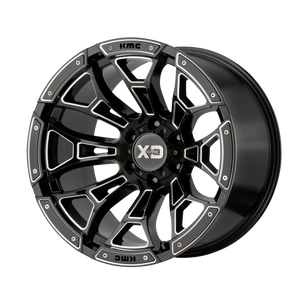 XD SERIES BY KMC WHEELS BONEYARD GLOSS BLACK MILLED - rons-rims-inc