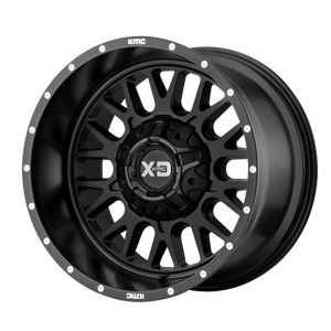 XD SERIES BY KMC WHEELS SNARE SATIN BLACK - rons-rims-inc