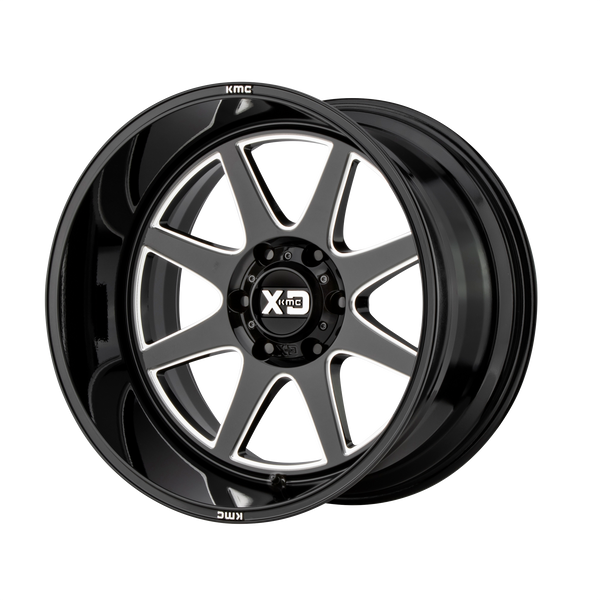 XD SERIES BY KMC WHEELS PIKE GLOSS BLACK MILLED - rons-rims-inc