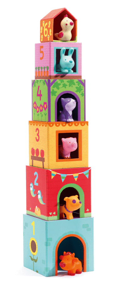 farm animal tower blocks - Pink and Brown Boutique