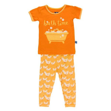 Bamboo Pajama Set in Bee Duck - Pink and Brown Boutique