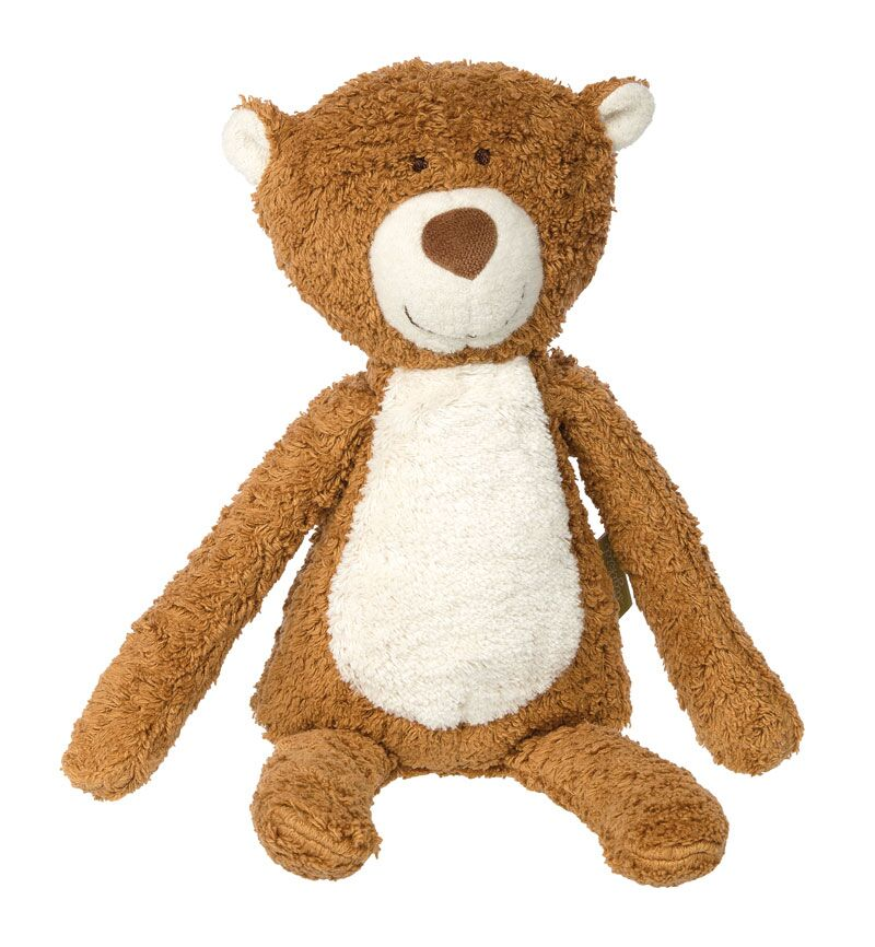Organic Plush Bear - Pink and Brown Boutique