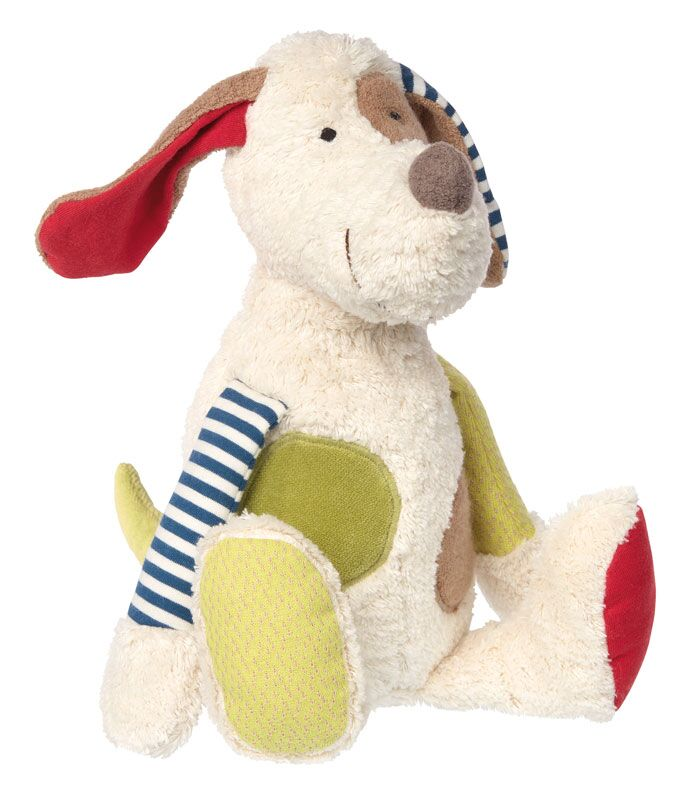 Organic Plush Dog - Pink and Brown Boutique