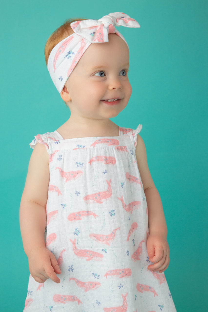pink whale print headband - Pink and Brown Boutique