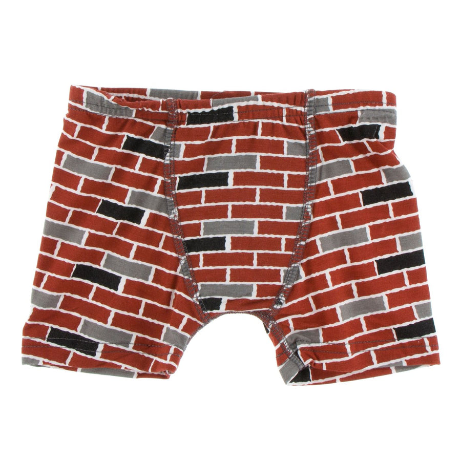 Bamboo Boxer Brief in brick - Pink and Brown Boutique