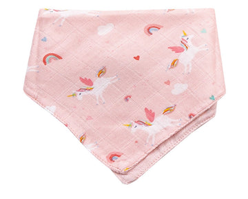 unicorns bandana bib - Pink and Brown Boutique
