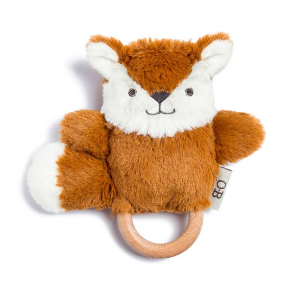 frank the fox teether - Pink and Brown Boutique
