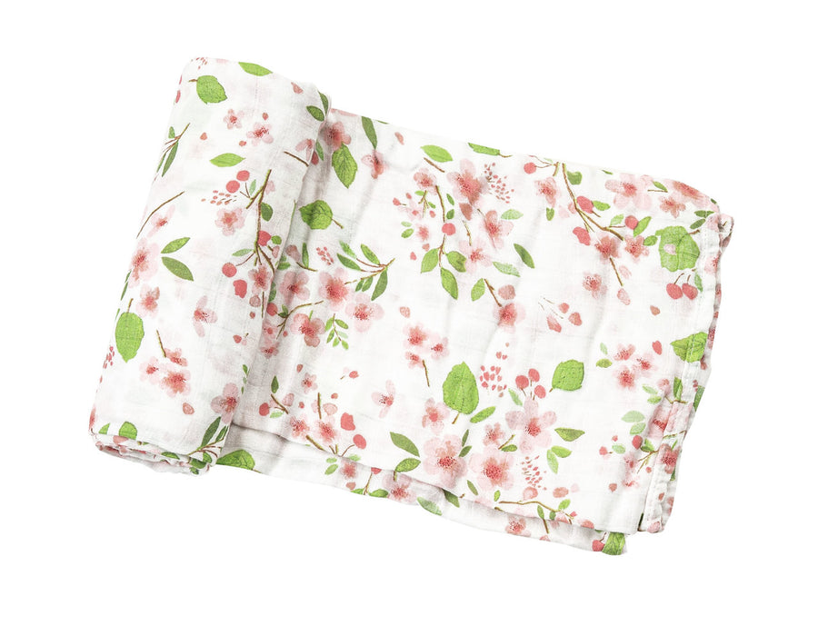 cherry blossom swaddle blanket - Pink and Brown Boutique