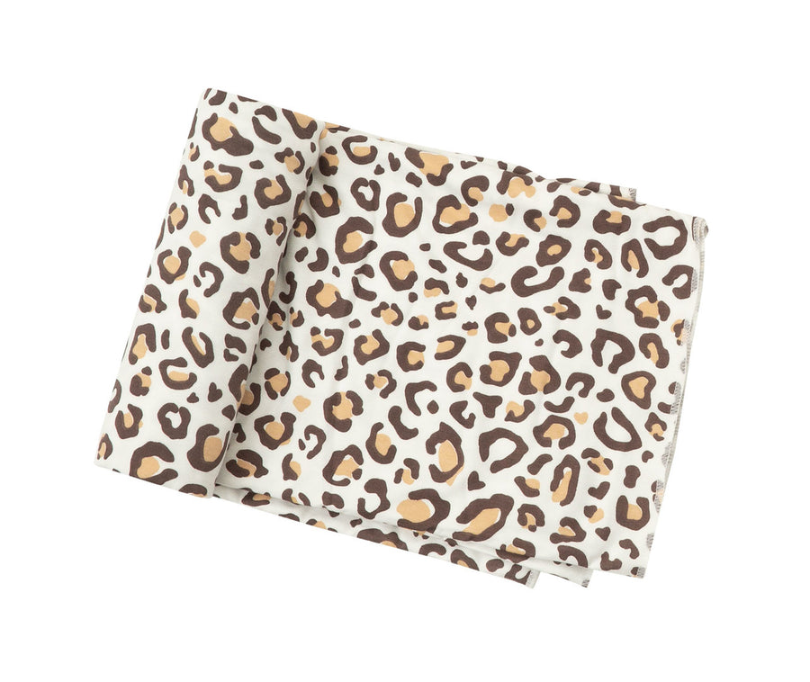 leopard bamboo swaddle blanket - Pink and Brown Boutique