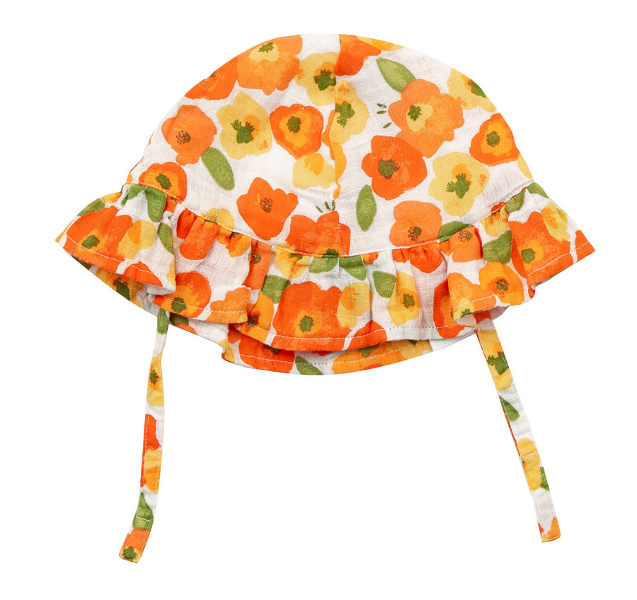 poppies sunhat - Pink and Brown Boutique