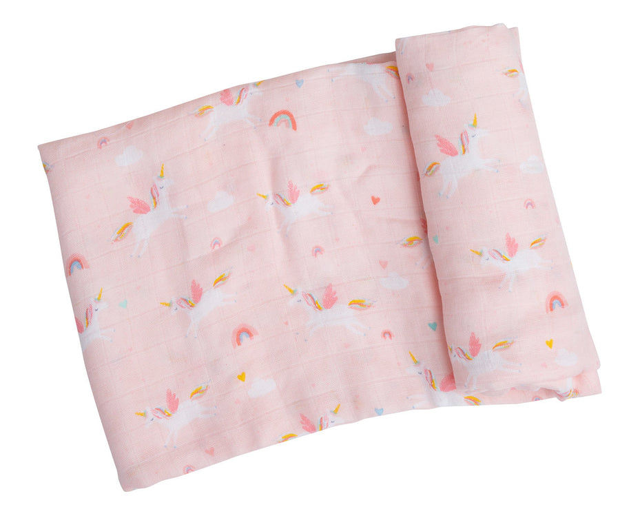 unicorn swaddle blanket - Pink and Brown Boutique