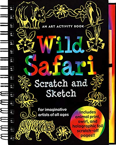 wild safari scratch and sketch - Pink and Brown Boutique