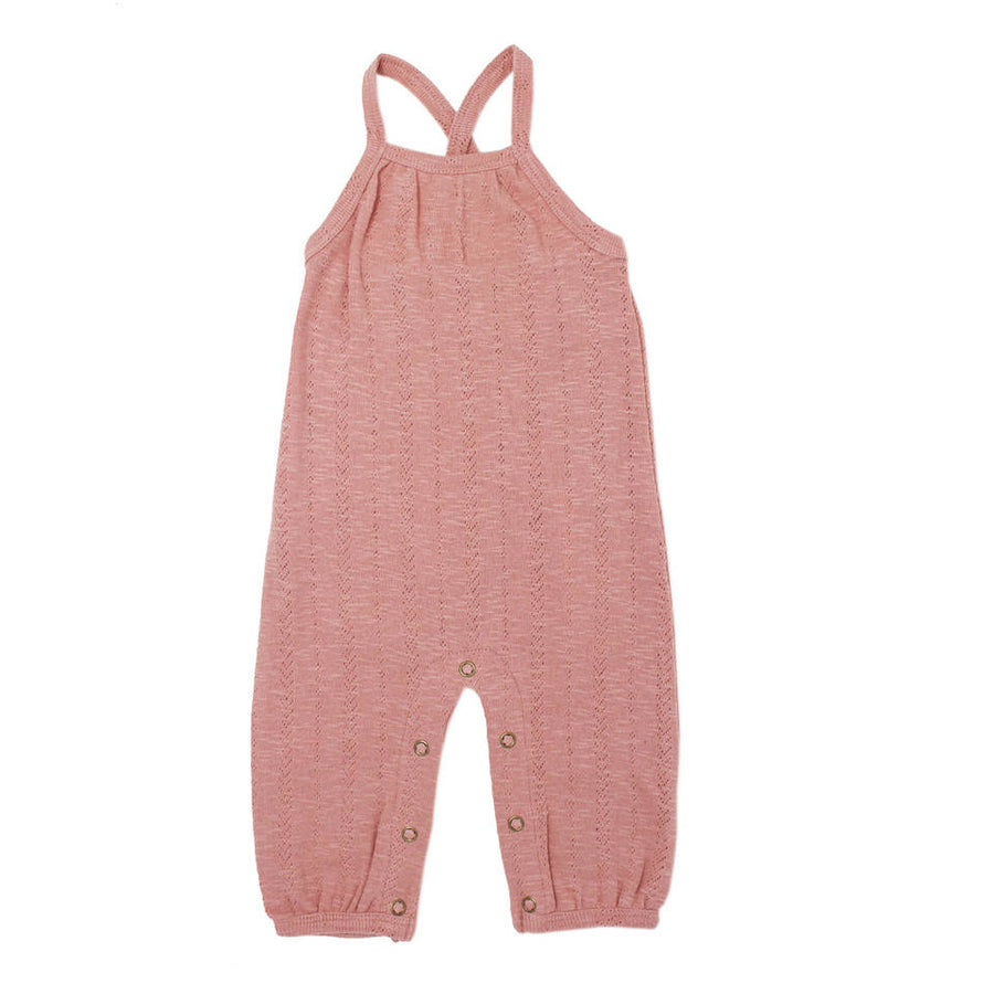 organic pointelle romper in mauve - Pink and Brown Boutique