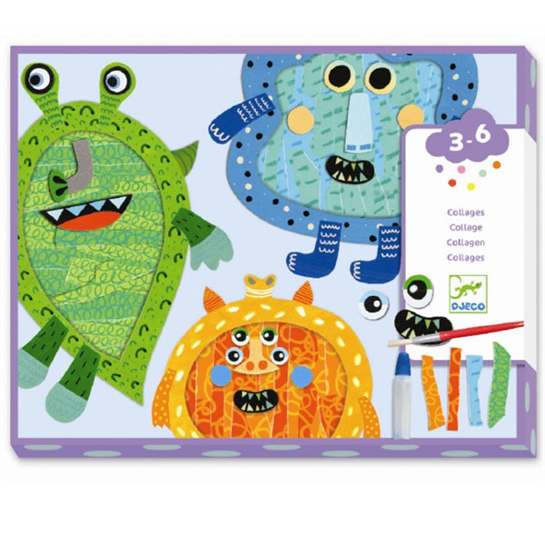 happy monster collages - Pink and Brown Boutique