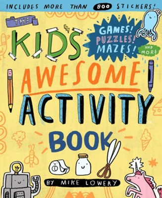 kids awesome activity book - Pink and Brown Boutique