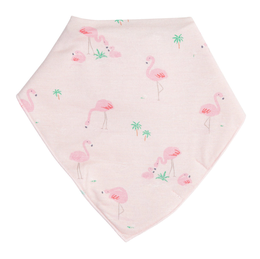 flamingo bandana bib - Pink and Brown Boutique