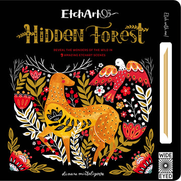 hidden forest etch art - Pink and Brown Boutique