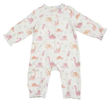 pink dinosaur coverall - Pink and Brown Boutique