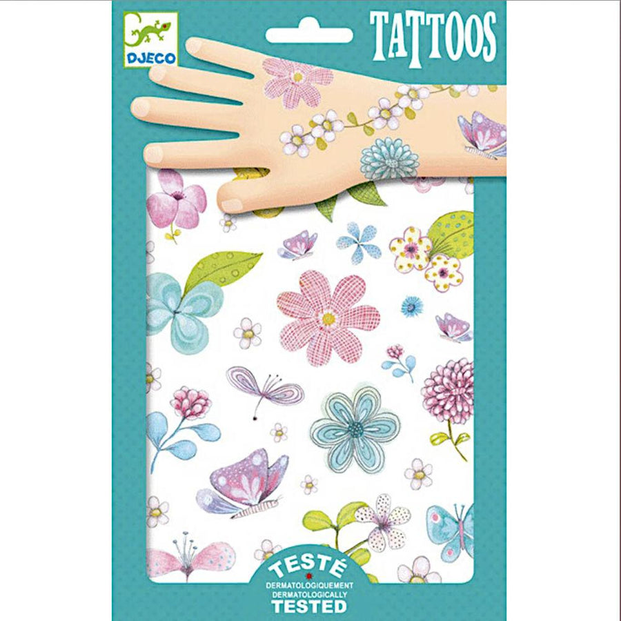 Tattoos wild flowers - Pink and Brown Boutique