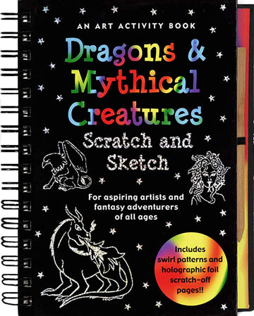 dragons & mythical creatures scratch and sketch - Pink and Brown Boutique