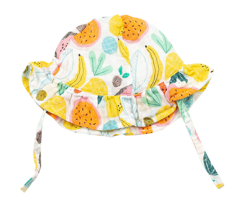 tropical fruit sunhat - Pink and Brown Boutique
