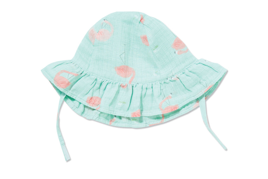 flamingo sunhat - Pink and Brown Boutique