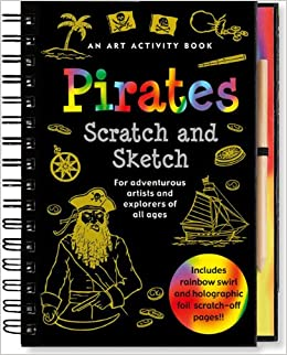 pirates scratch and sketch - Pink and Brown Boutique