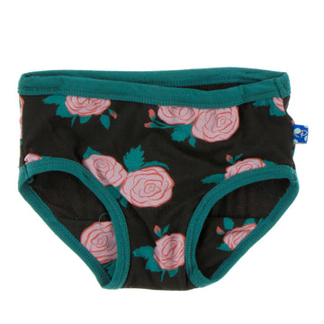 bamboo underwear in rose garden - Pink and Brown Boutique