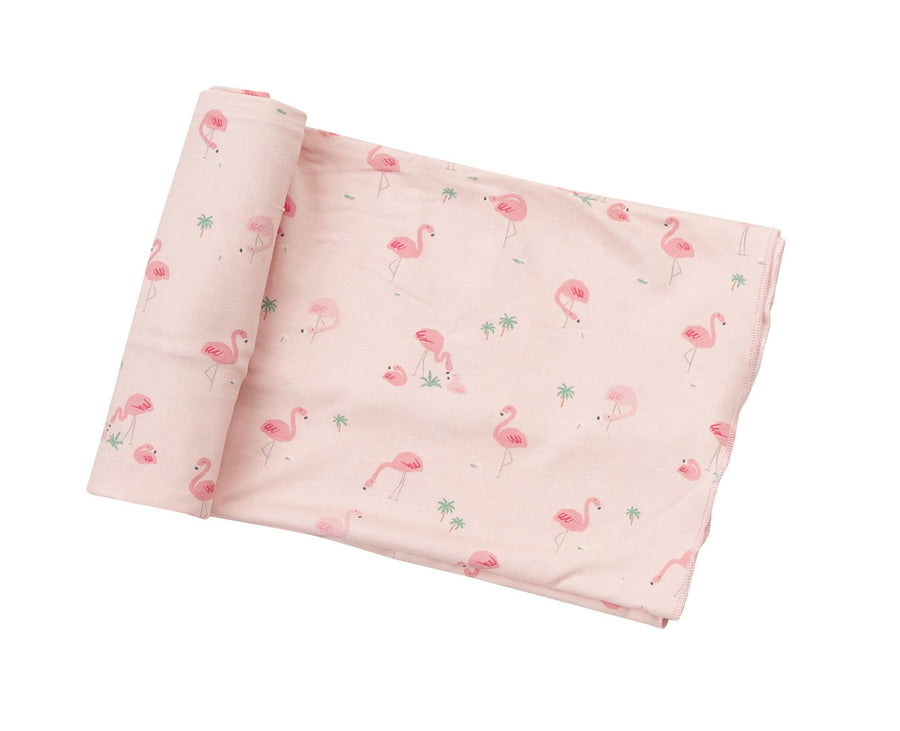 flamingo bamboo swaddle blanket - Pink and Brown Boutique