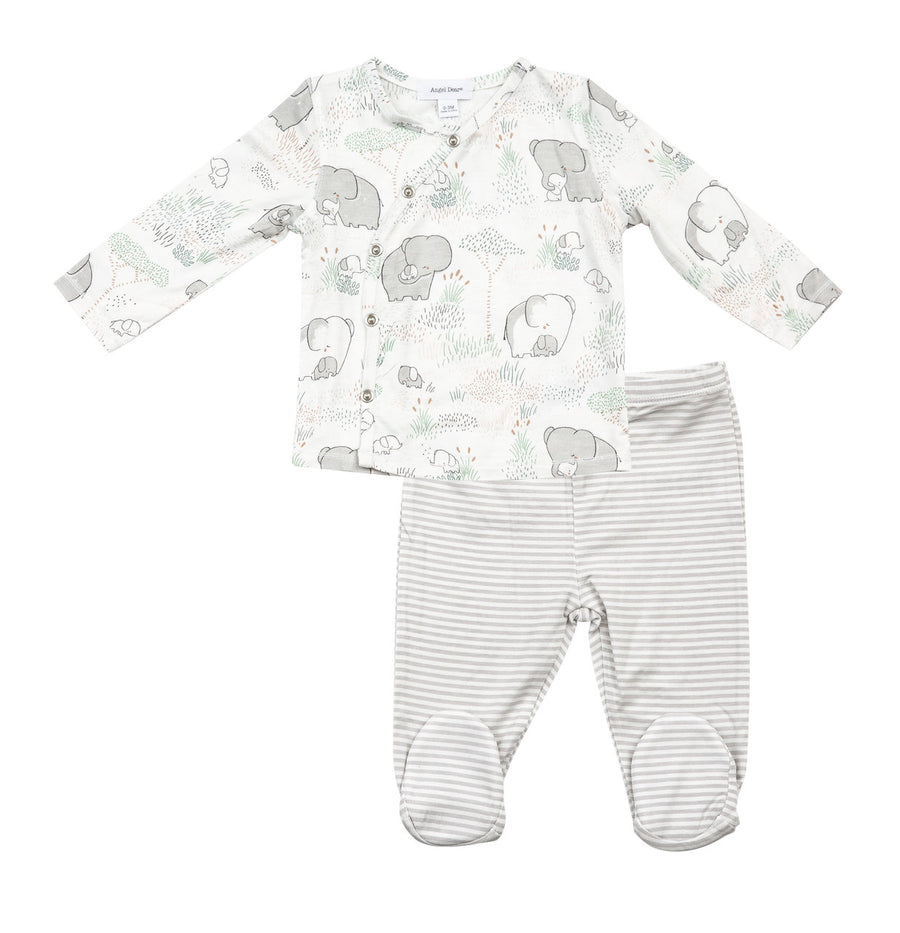 Grey elephant take me home set - Pink and Brown Boutique