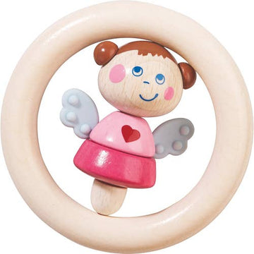 guardian angel girl teether - Pink and Brown Boutique