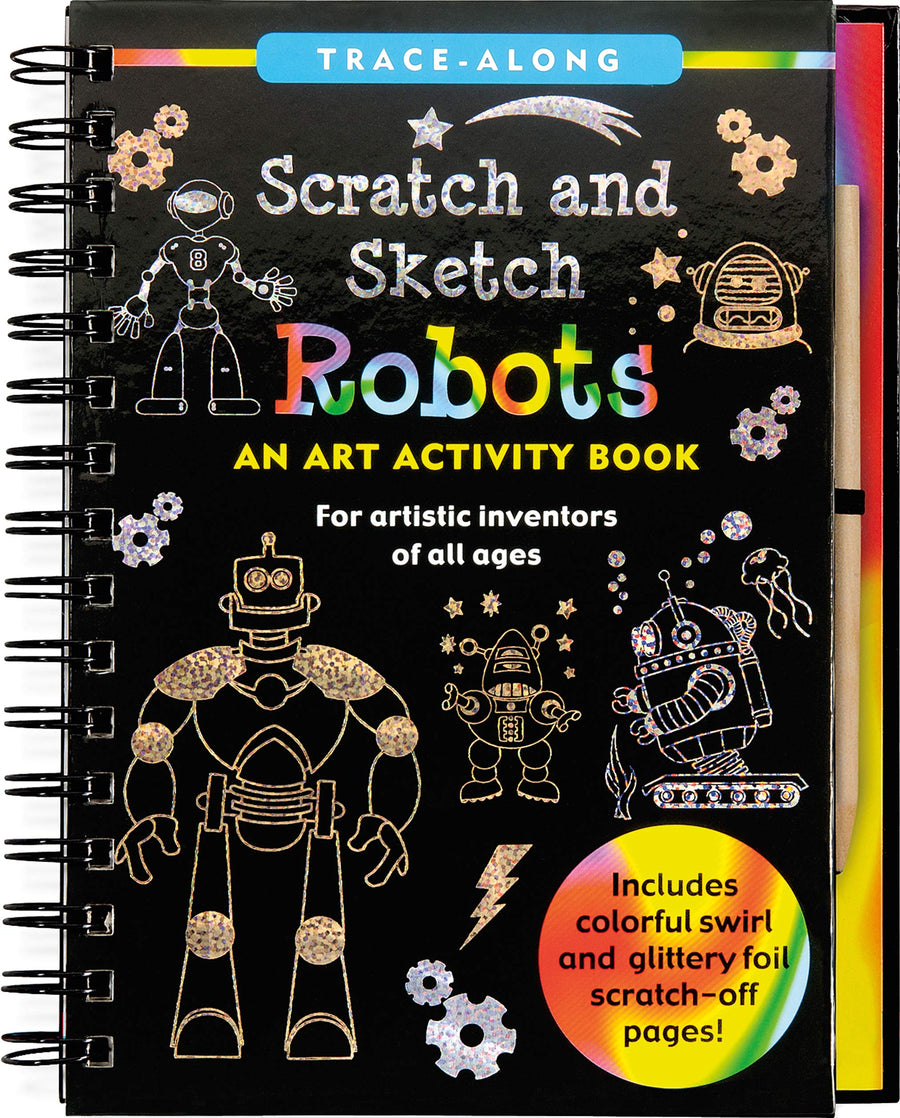 robots scratch and sketch - Pink and Brown Boutique