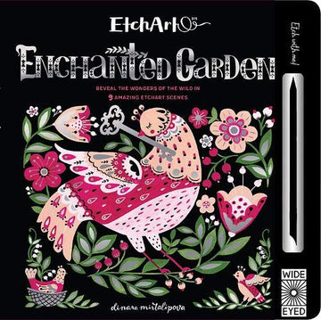 enchanted garden etch art - Pink and Brown Boutique