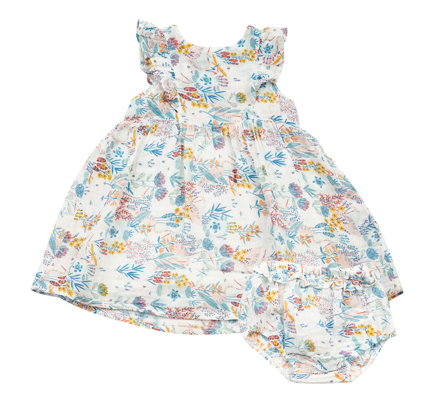crane dress and diaper cover - Pink and Brown Boutique