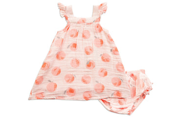 peachy dress and diaper cover - Pink and Brown Boutique