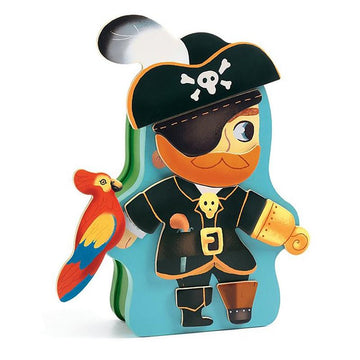 wooden magnetic pirate - Pink and Brown Boutique