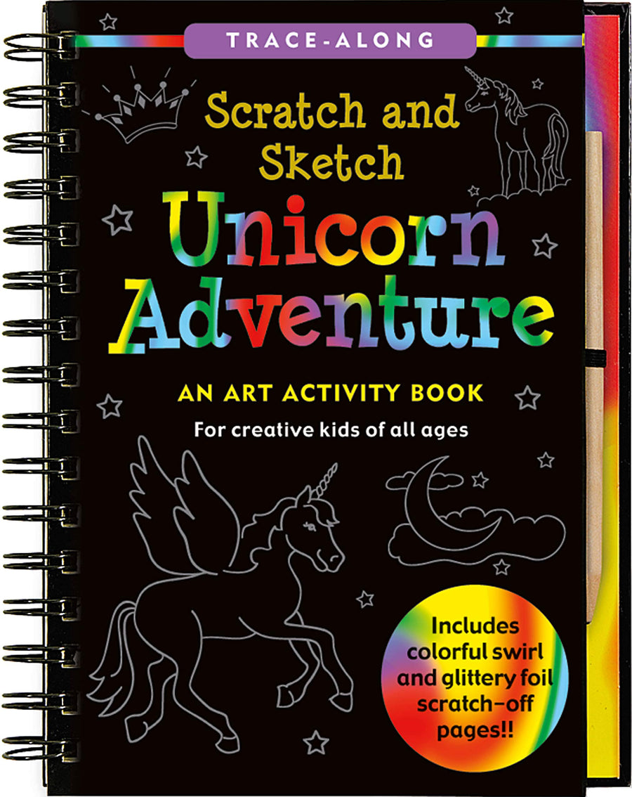 unicorn adventure scratch and sketch - Pink and Brown Boutique