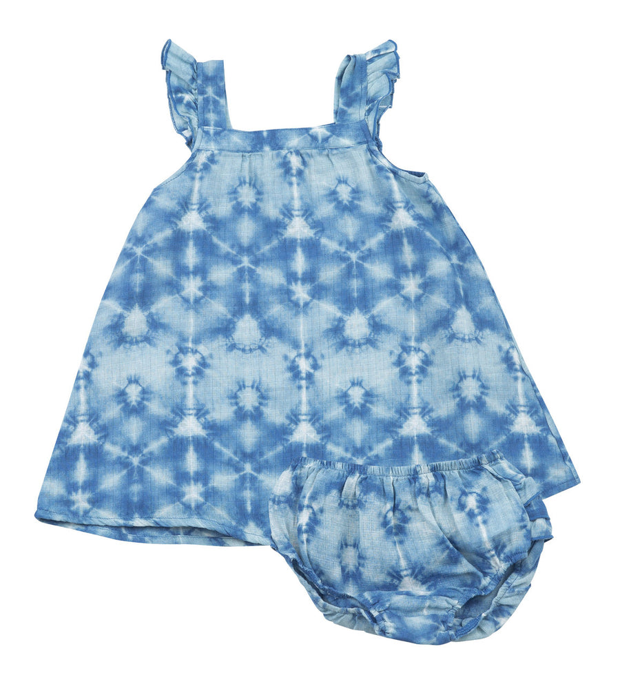 indigo dress and diaper cover - Pink and Brown Boutique