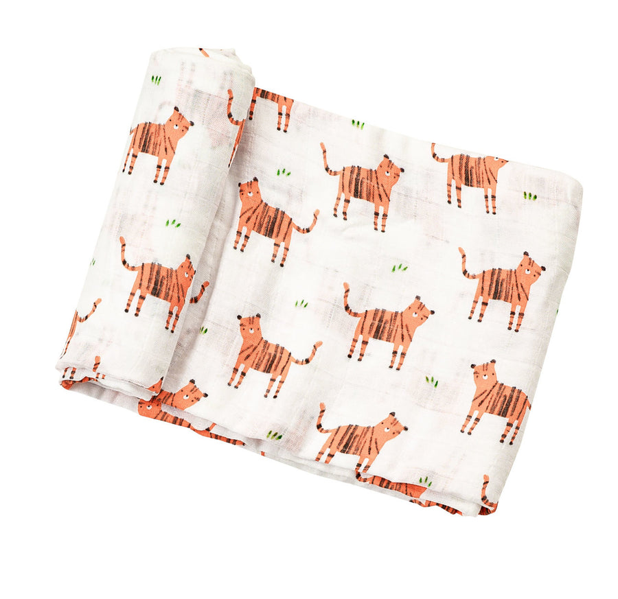 tigers swaddle blanket - Pink and Brown Boutique