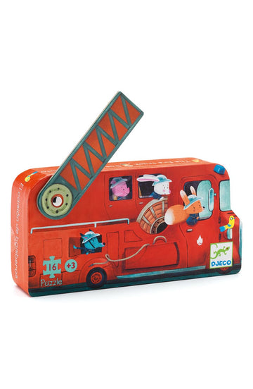 fire truck silhouette puzzle - Pink and Brown Boutique
