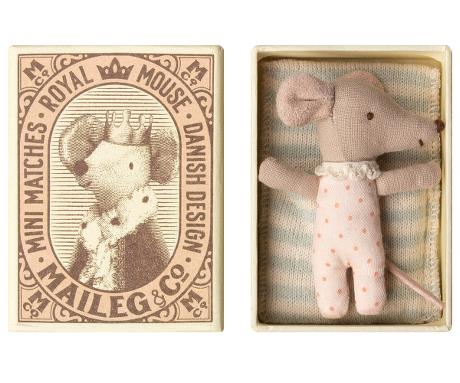 sleepy/wakey baby mouse girl - Pink and Brown Boutique