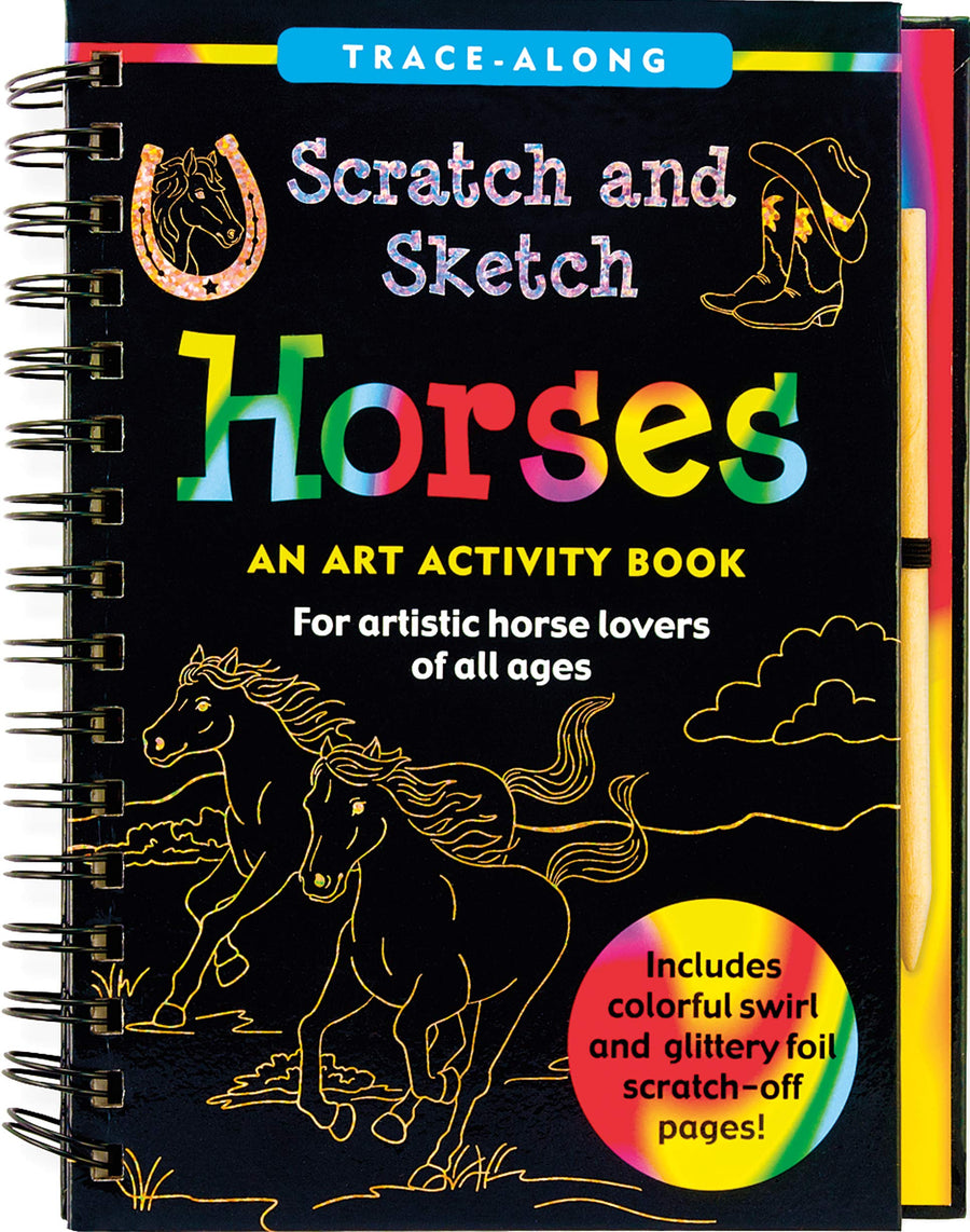 horses scratch and sketch - Pink and Brown Boutique