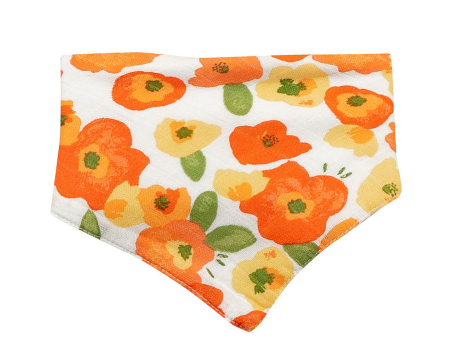 poppies bandana bib - Pink and Brown Boutique