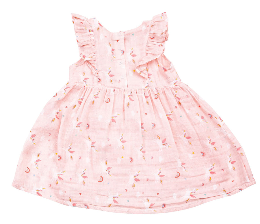 unicorn muslin dress - Pink and Brown Boutique