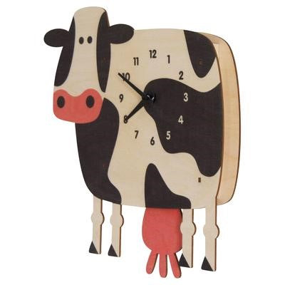 Cow Pendulum Clock - Pink and Brown Boutique