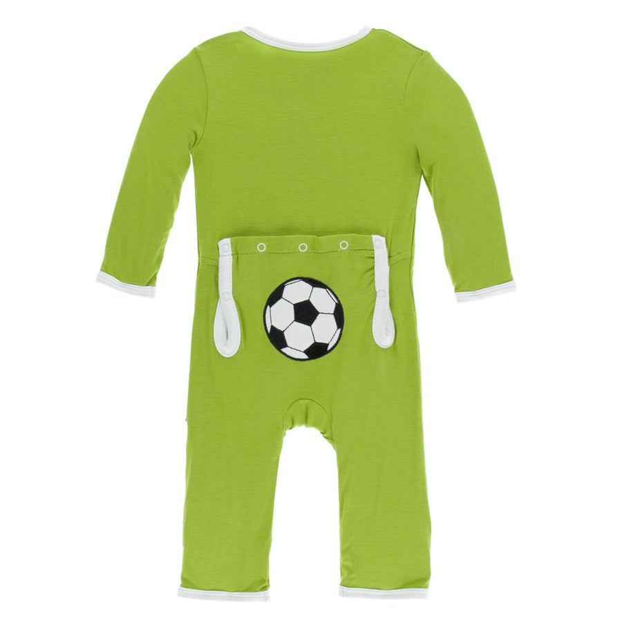 coverall with zipper in meadow soccer - Pink and Brown Boutique